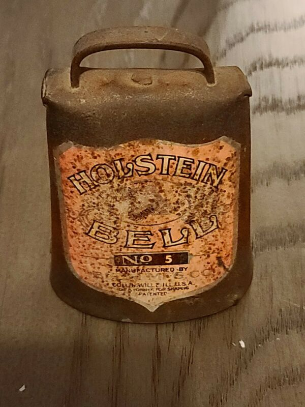 Holstein Bell No. 5 Cow Bell vintage BLUM MFG CO. antique RARE Perfect graphics