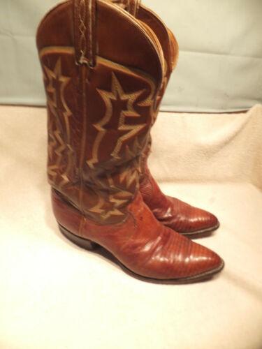 Tony, Lama, #8573, Chestnut, Brown, Lizard, Skin, Cowboy, Boots, Mens, Sz, 9D, USA, Made