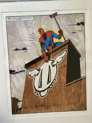 DFace SpiderMan What Have I Become Screen Print Limited Edition Banksy Signed