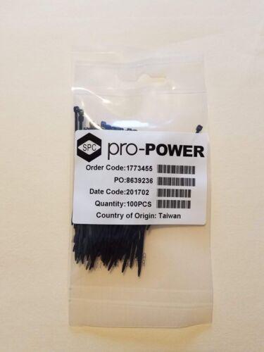 "2-13/16"" 71mm Submicro Micro Mini Cable Ties Zip Ties BLACK 100ea."