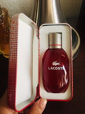 LACOSTE RED Pop Edition 1.6 Fl Oz EDT Pour Homme Very Rare New In Tin Box