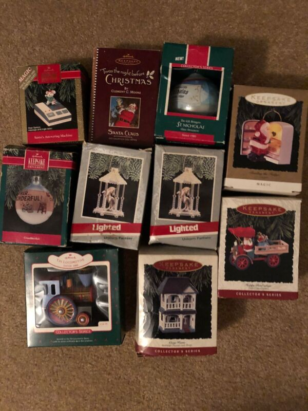 Various Keepsake Ornaments Dated From Late 89-93