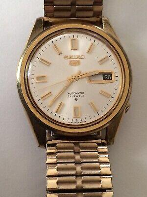 Vintage Seiko 5 Model 6119- 8083 Men's Automatic 21 Jewel Wristwatch Watch