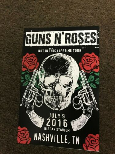 "Guns N Roses 2016 Nashville, TN - Not in this Lifetime Concert Poster 12"" x 18"""
