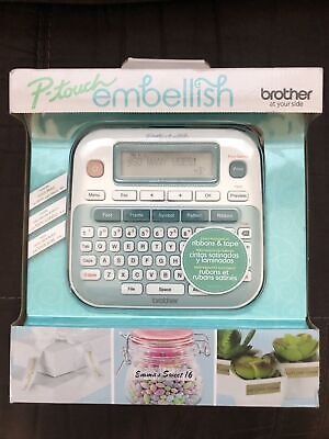 Brother P-touch Embellish Ribbon Tape Label Printer Machine New In Box