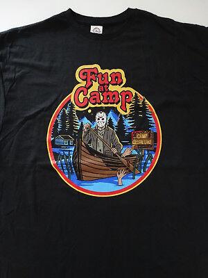 Friday The 13th Horror Movie Jason Voorhees Fun At Camp Crystal Lake T-Shirt](Camp Crystal Lake)