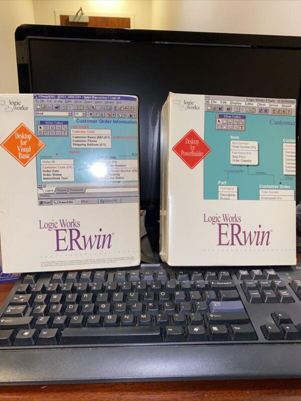$10,000 ERwin/Desktop For Visual Basic And ER/Desktop For PowerBuilder.Brand New