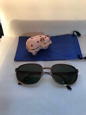 Vintage Yves Saint Laurent YSL cupper metal RX Sunglasses Frames 53 18 (Vintage Ysl Sunglasses)