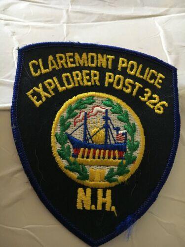 Claremont New Hampshire Vintage Police Patch Explorer