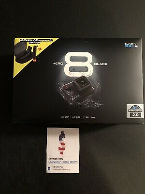 GoPro HERO 8 Black 4K Action Camera Bundle 2 Batteries, Handler Case SD Card NEW