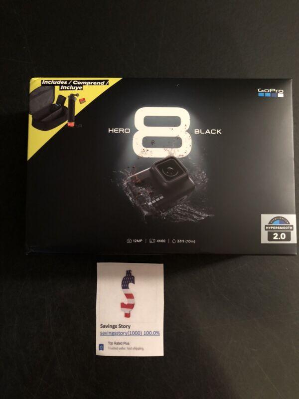 GoPro HERO 8 Black 4K Action Camera Bundle 2 Batteries, Handler Case SD Card NEW
