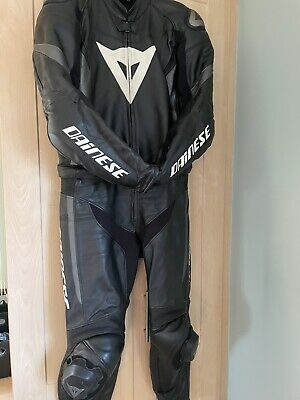 Dainese 2 Piece Motorbike Motorcycle Leather Suit Size EU52