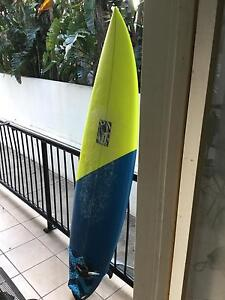 6.8 Surfboard NEW FINS/ NEW LISH Bundall Gold Coast City Preview