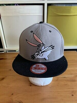 New era Bugs Bunny Looney Tunes Snapback Cap Black 9fifty Baseball Hat