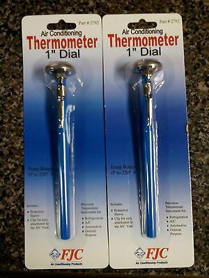 10 Fjc 2792 Thermometer Dial 1 Dial Faceprotec Sleeve 0-220 F.free Ship