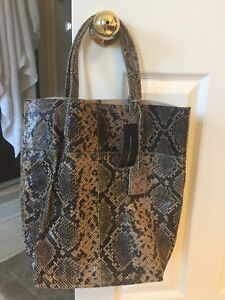 French Connection Snake Leather tote