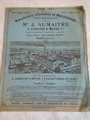 French Trade Catalogue Brochure 1927 Aumaitre & Mathé Ladder makers
