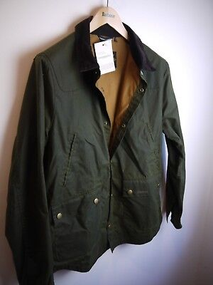 Barbour Men's Reelin Wax Jacket, New With Tags, XL, Sage Green