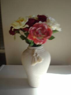 Artificial flowers (Vase included