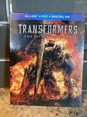 Transformers: Age of Extinction Steelbook Blu-ray/DVD/Digital NEW