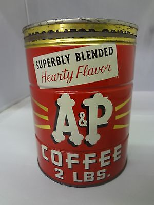 VINTAGE A & P BRAND COFFEE TIN ADVERTISING COLLECTIBLE  CAN  M-552