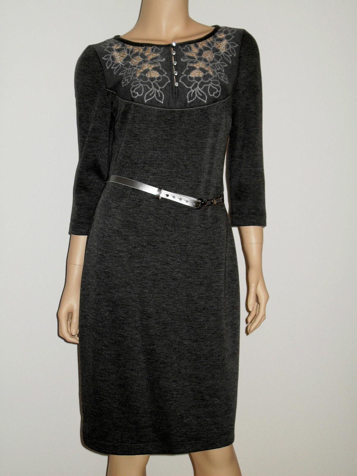 Luxus Kleid Designerkleid Business Freizeit Jersey  Edel  Elegant Gr. 40