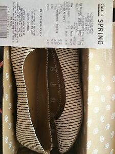 Striped flats - Size 9 - never been worn
