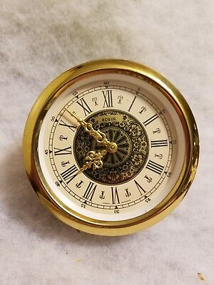 """C 5) 3.5""""  Vintage Robin Mechanical Clock Movement made in W. Germany Face Part"""
