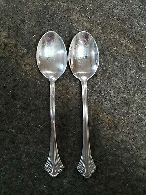 Two Towle 18/8 Germany Stainless Steel COLONIAL PLUME spoons