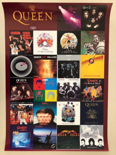 QUEEN, ALBUMS THROUGH THE YEARS,RARE AUTHENTIC LICENSED 2000