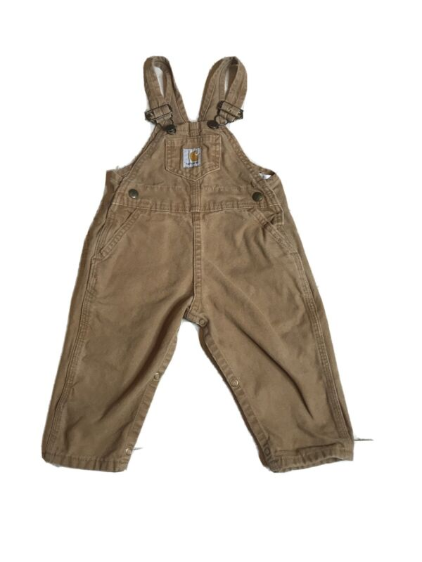 Kids Overalls Carhartt Size 24 M Regular Brown