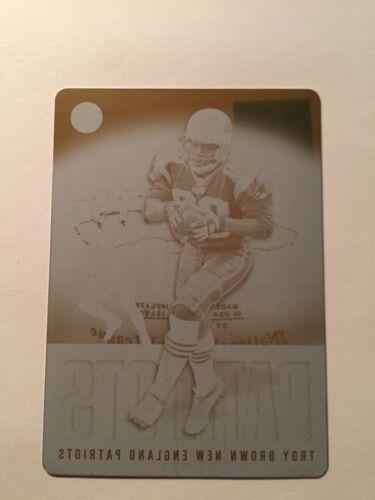 2003 Topps Pristine NFL Black Press Plate # 5 # 1/1 Troy Brown Patriots