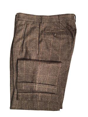 Polo Ralph Lauren Made in Italy Virgin Wool Pants 34 X 29  Pleated Cuffed EUC