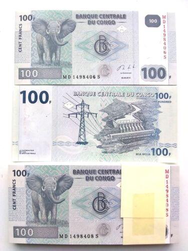 Congo 100 Francs, 2013, UNC ( X 50 PCS) from bundle bank notes