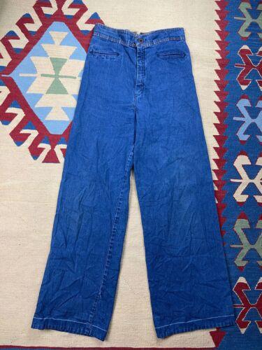 Vtg Levis Wide Leg Jeans 70s Size 28x30