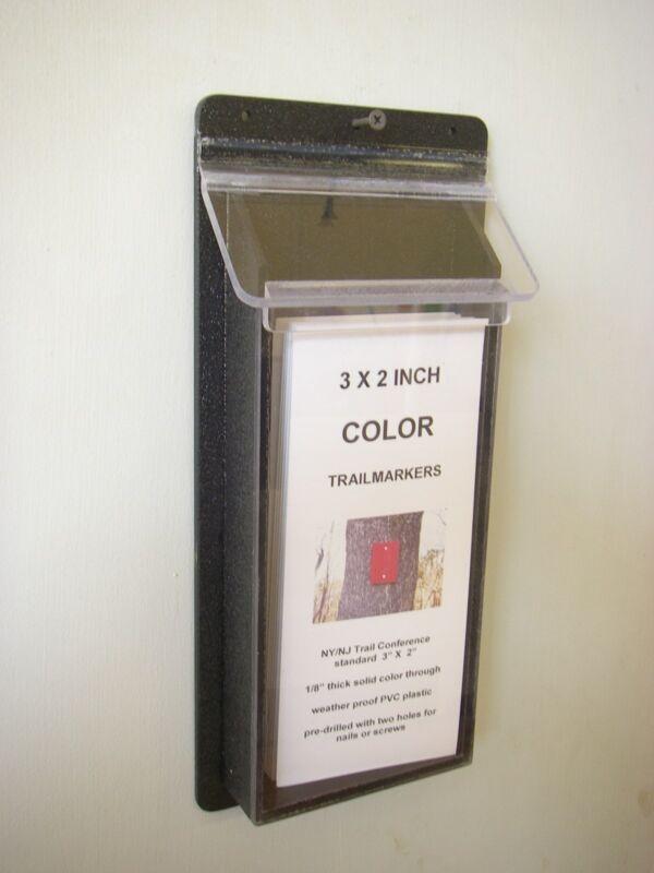 brochure holder outdoor impact resistant - black