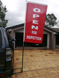 Real estate open for inspection signage