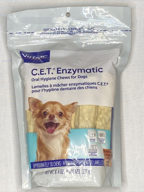 Virbac C.E.T. Enzymatic Oral Hygiene Chews for Dogs Extra Small Free Shiping