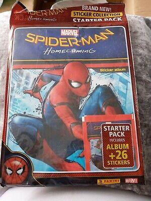 Panini SPIDERMAN HOMECOMING starter pack album plus 26 stickers