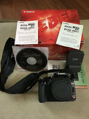 Canon Digital Rebel XTI EOS 400D Digital Camera Body Only - Mint Condition