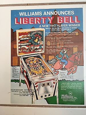 """L IBERTY BELL BY WILLIAMS """"RARE""""VINTAGE-PROTECTED IN PLASTIC--""""MINT"""""""