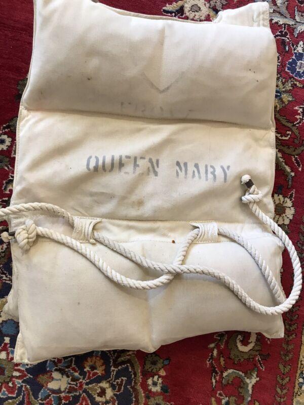 Queen Mary Life Preserver Life Jacket Original Condition