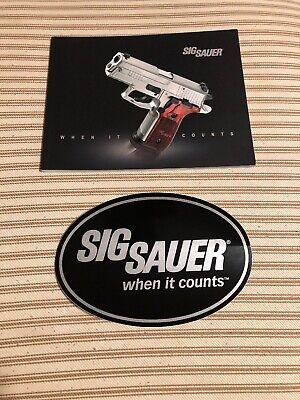New Sig Sauer Round Logo Vinyl Decal Sticker Tactical AR15 Pistol Gray//Black