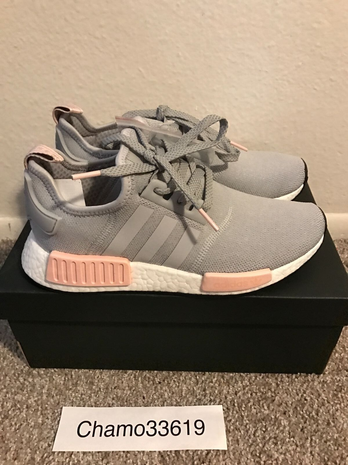 4fb2f6f35847a Adidas NMD R1 Women Clear Onix Vapour Pink - ALL SIZES - with Receipt -  BY3058