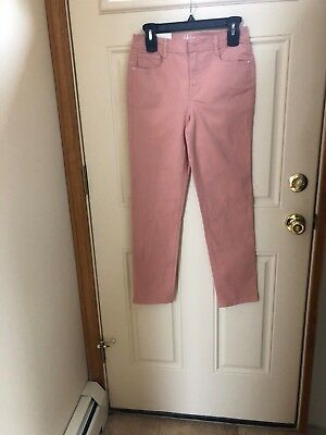 Style   Co  Rose Slim Leg High Rise Tummy Control Jeans Size 4P Nwt Msp  49 00