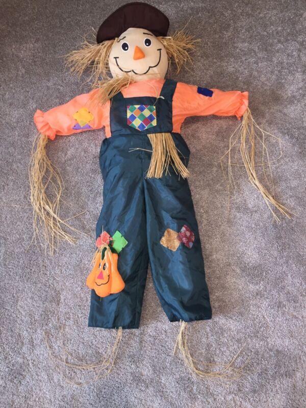 Vintage Halloween Straw Scarecrow Goffa