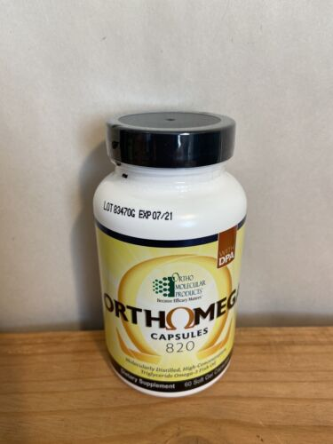 Ortho Molecular Products ORTHOMEGA 820 60 Softgels Capsules Omega 3 Fish Oil