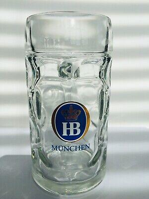 1 x 0.5 Liter HB Hofbrauhaus Munchen LARGE Dimpled Glass Beer Stein Mug