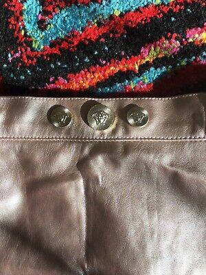 Versace Girls Age 4 Pink Metallic Faux Leather Skirt Designer
