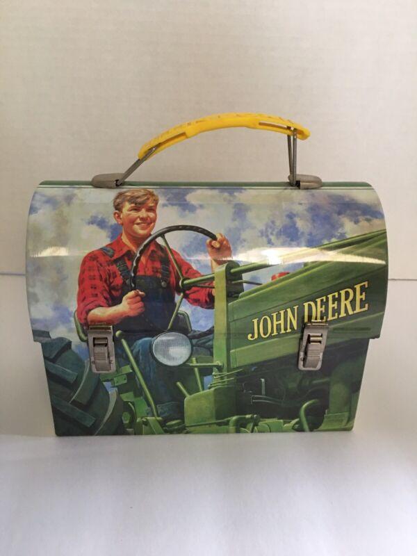 John Deere Small Metal Tin Box Co. | Lunch | Farm Boy Green Tractor | Moline, IL